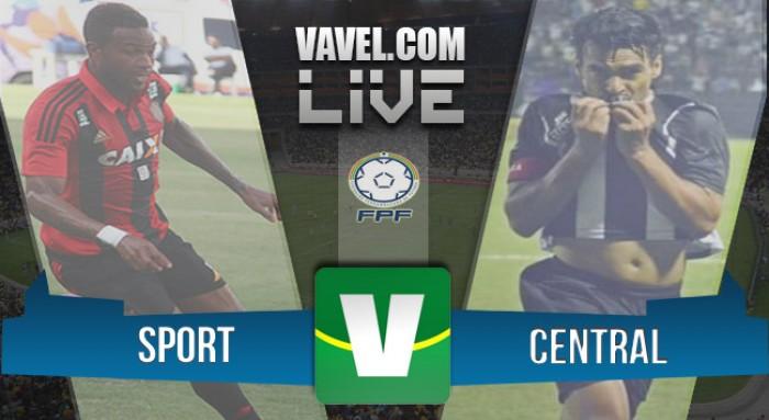 Resultado Sport x Central-PE no Campeonato Pernambucano 2016 (4-0)