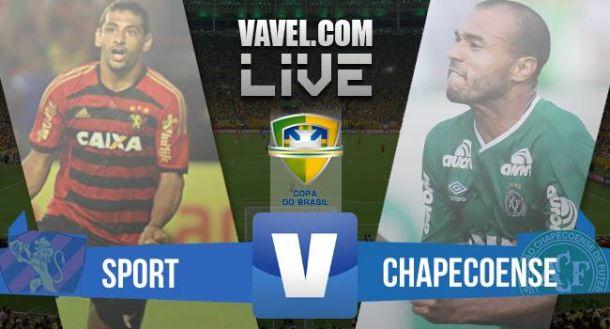 Resultado Sport x Chapecoense na Copa do Brasil 2015 (2-0)