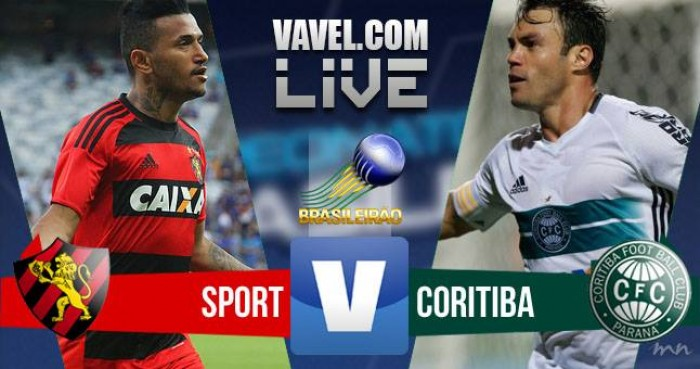 Resultado Sport x Coritiba na Série A do Campeonato Brasileiro (0-1)