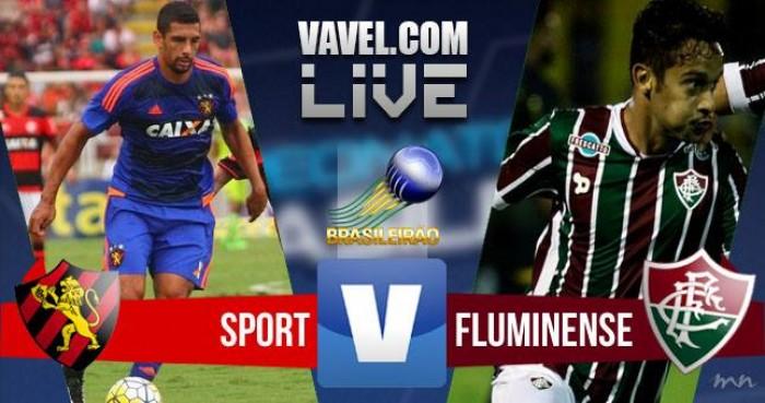 Resultado Sport x Fluminense no Campeonato Brasileiro hoje (2-1)