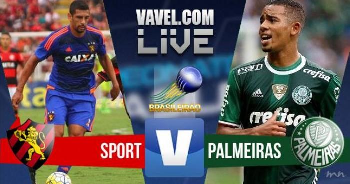Resultado Sport x Palmeiras pelo Campeonato Brasileiro 2016 (1-3)