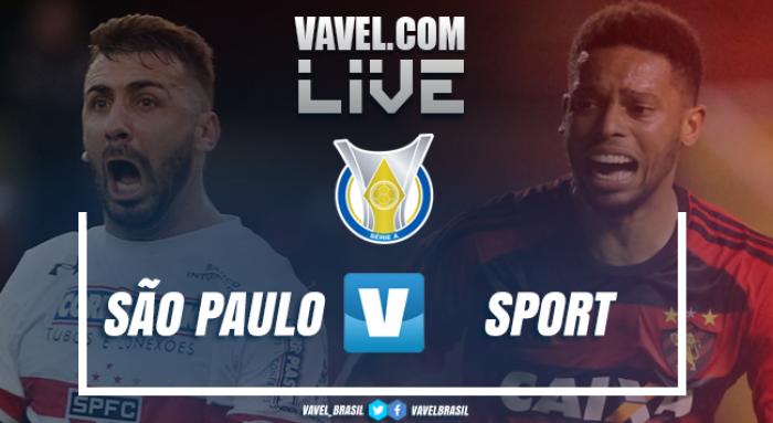 Jogo São Paulo x Sport AO VIVO onlineno Campeonato Brasileiro 2017