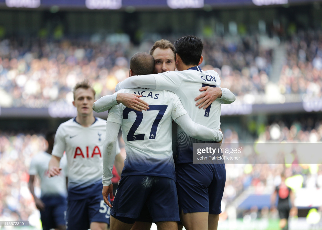 Tottenham Hotspur 4-0 Huddersfield Town: Lucas hat-trick fires Spurs to victory