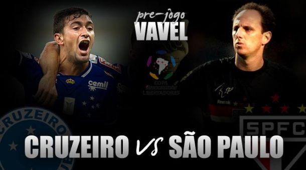 Cruzeiro duela com São Paulo buscando reverter vantagem na Libertadores