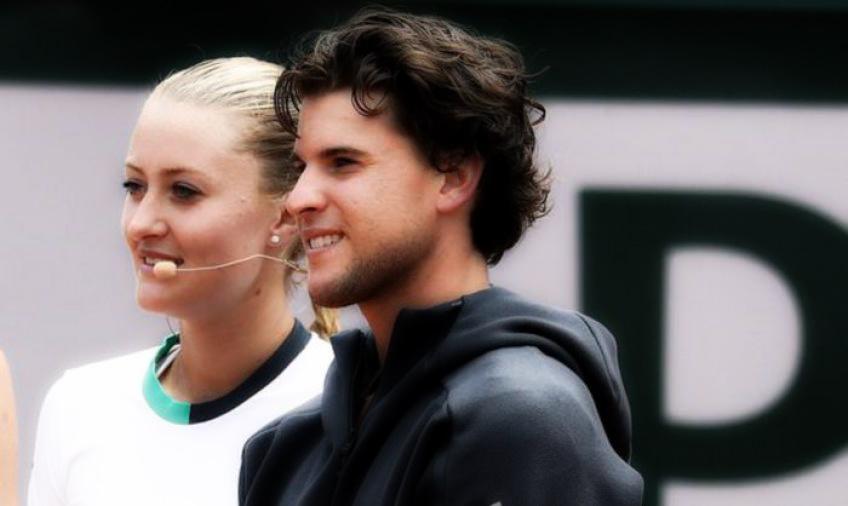 Amor en el tenis: Thiem y Mladenovic