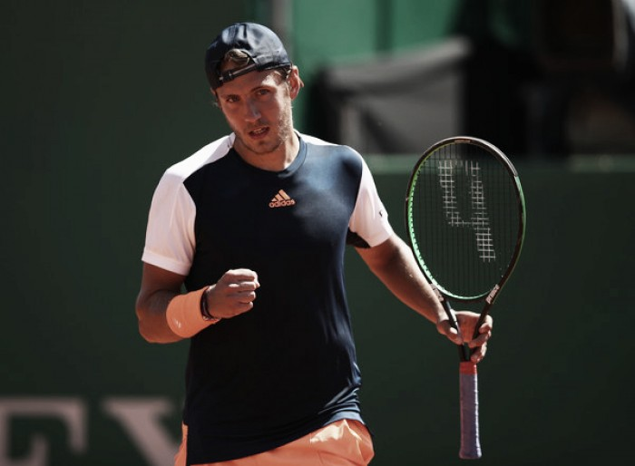 Lucas Pouille says he has benefitted massively from training with Roger Federer
