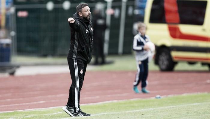 Técnico Derek McInnes comemora vitória do Aberdeen e comenta atuação contra oVentspils-LET