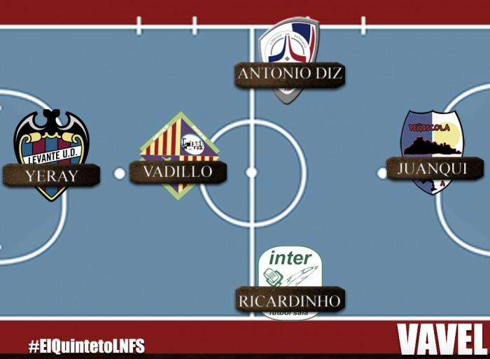 Quinteto ideal de la 1ª jornada de la LNFS 2016/2017