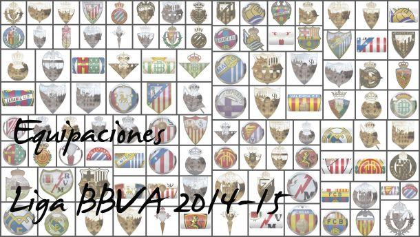 Las equipaciones de la Liga BBVA, 2014-15