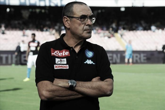 """Sarri lamenta derrota do Napoli contra a Roma: """"Poderíamos ter feito melhor"""""""