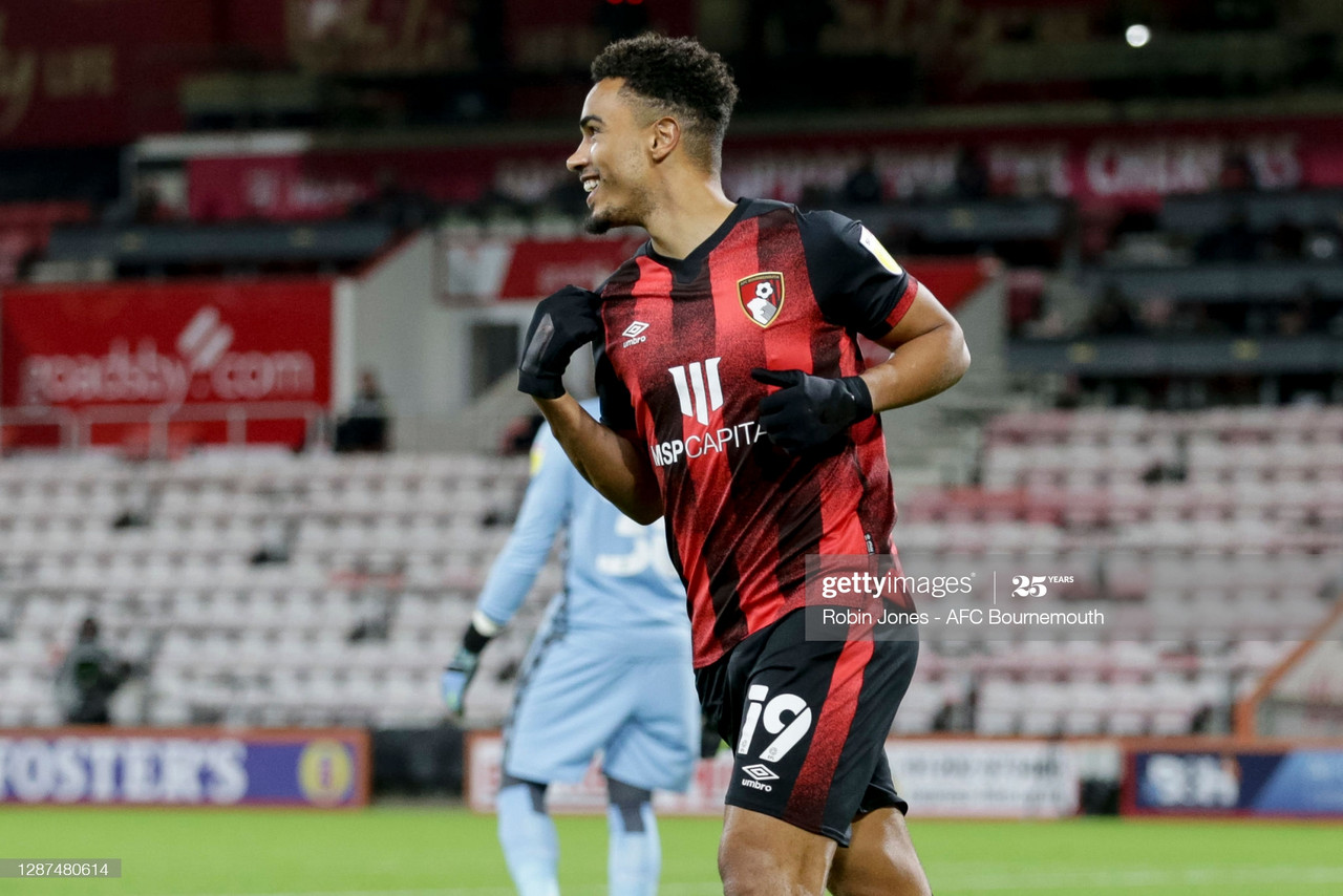 "<div style=""text-align: start;"">Junior Stanislas of Bournemouth scores to make it 1-0 vs Nottingham Forest /&nbsp; Credit: Robin Jones (AFC Bournemouth / Contributor (Getty Images))</div>"