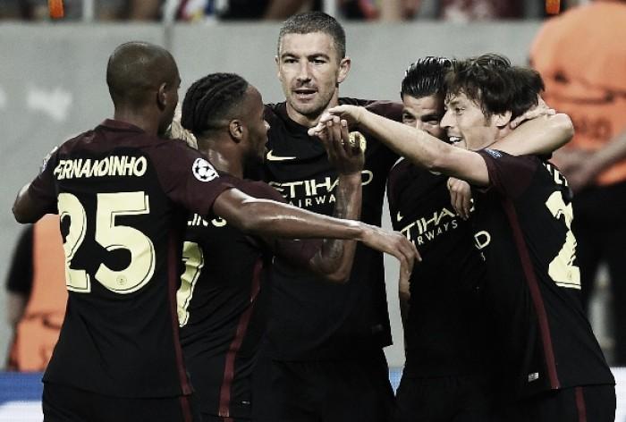 City atropela Steaua Bucareste com hat-trick de Agüero e encaminha vaga na fase de grupos da UCL