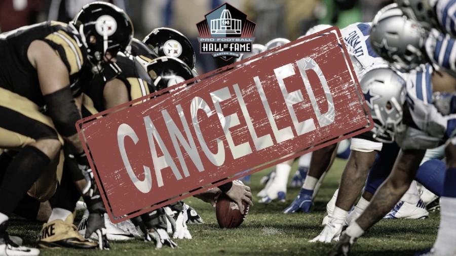 Cancelado el juego del Salón de la Fama entre Steelers-Cowboys