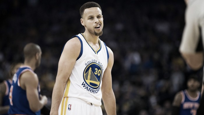 Golden State Warriors snap losing streak with 112-105 win over New York Knicks