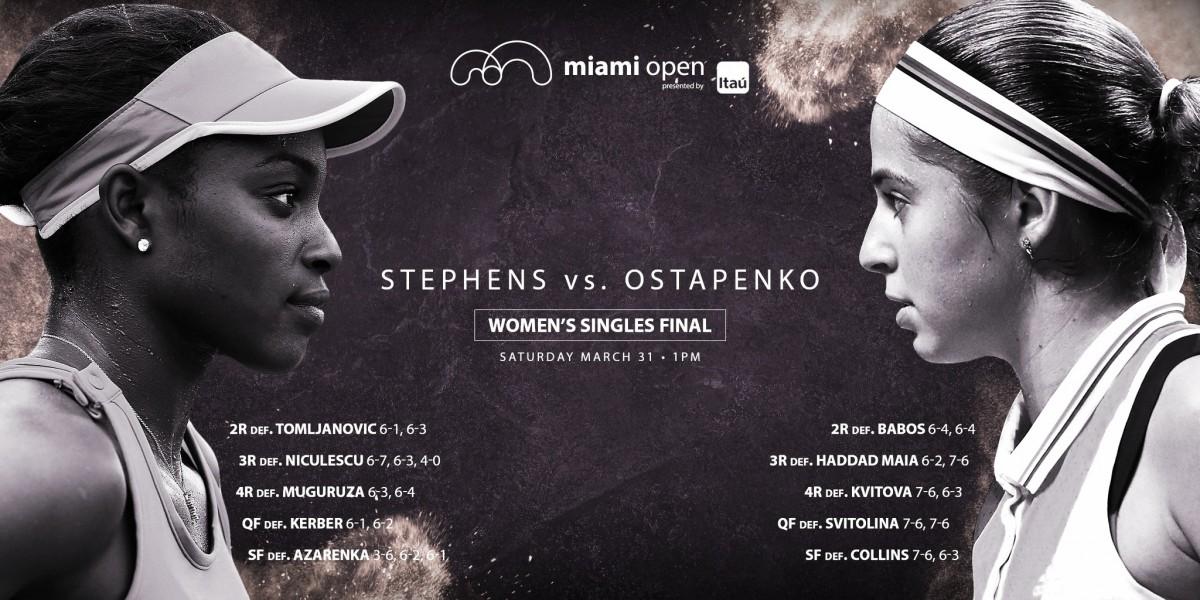 Tudo que você precisa saber sobre a final do WTA de Miami: Sloane Stephens x Jelena Ostapenko