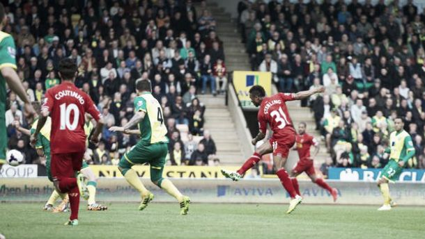 Norwich City vs Liverpool en vivo y en directo online