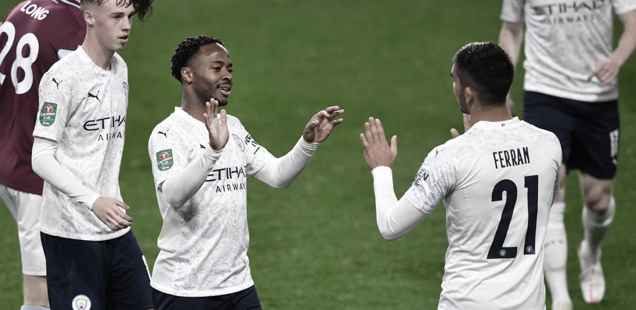 Manchester City perde caminhão de gols, mas vence Burnley na Copa da Liga Inglesa