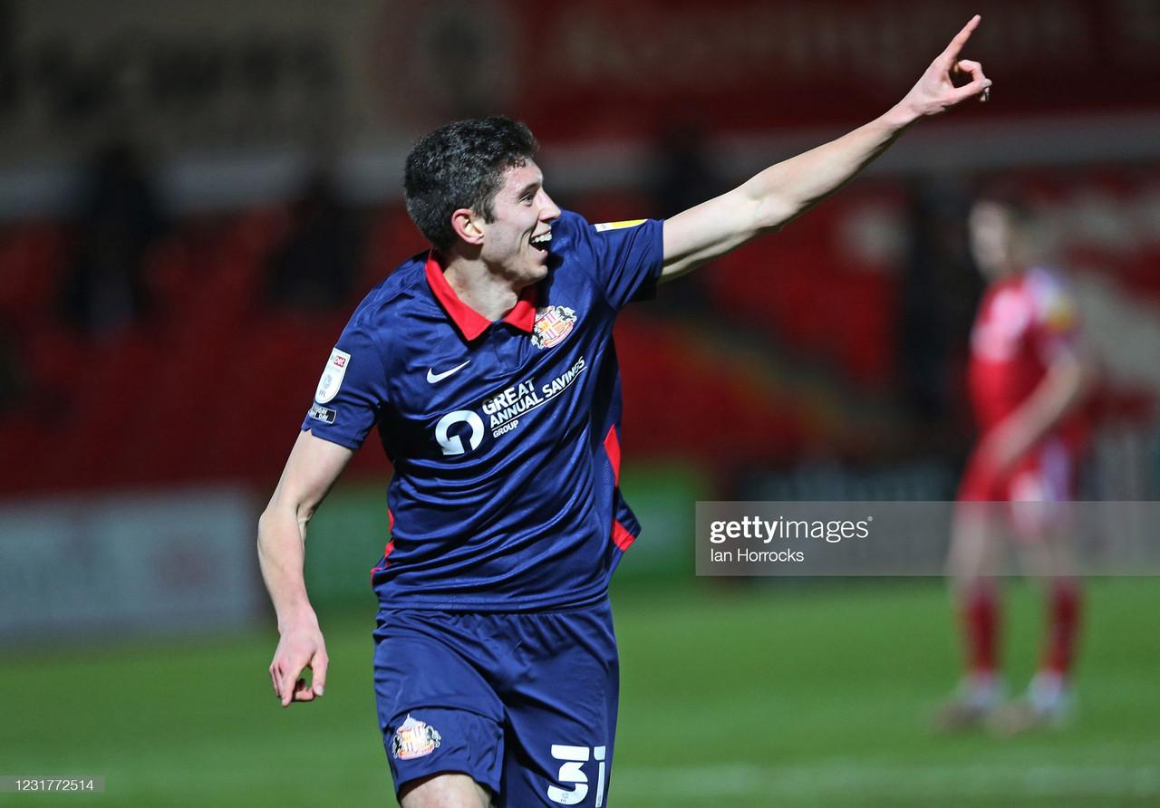 Accrington Stanley 0-2 Sunderland: Wyke header and debut Ross Stewart goal seal points