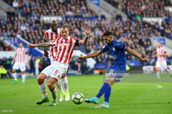 Score Stoke City 2-2 Leicester City in Premier League 2017
