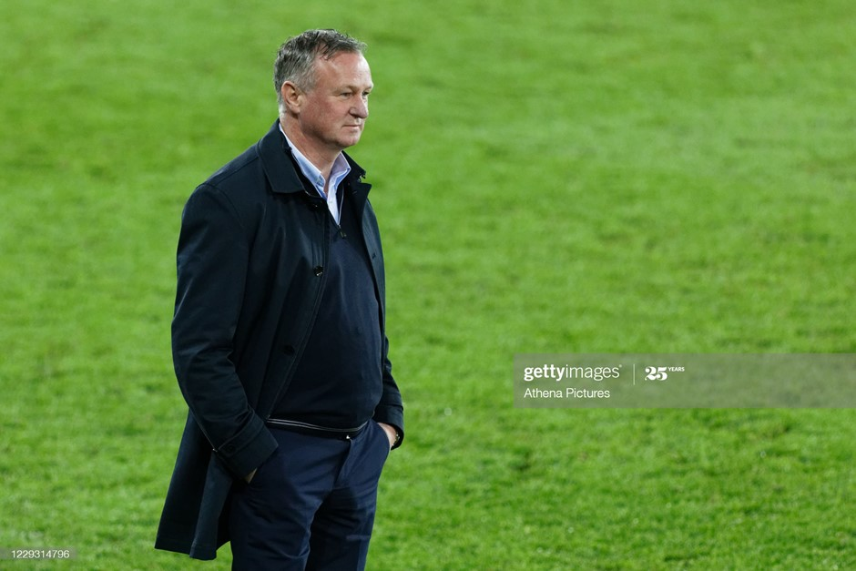 Stoke City manager Michael O'Neill. Photo: Athena Pictures/Getty Images.