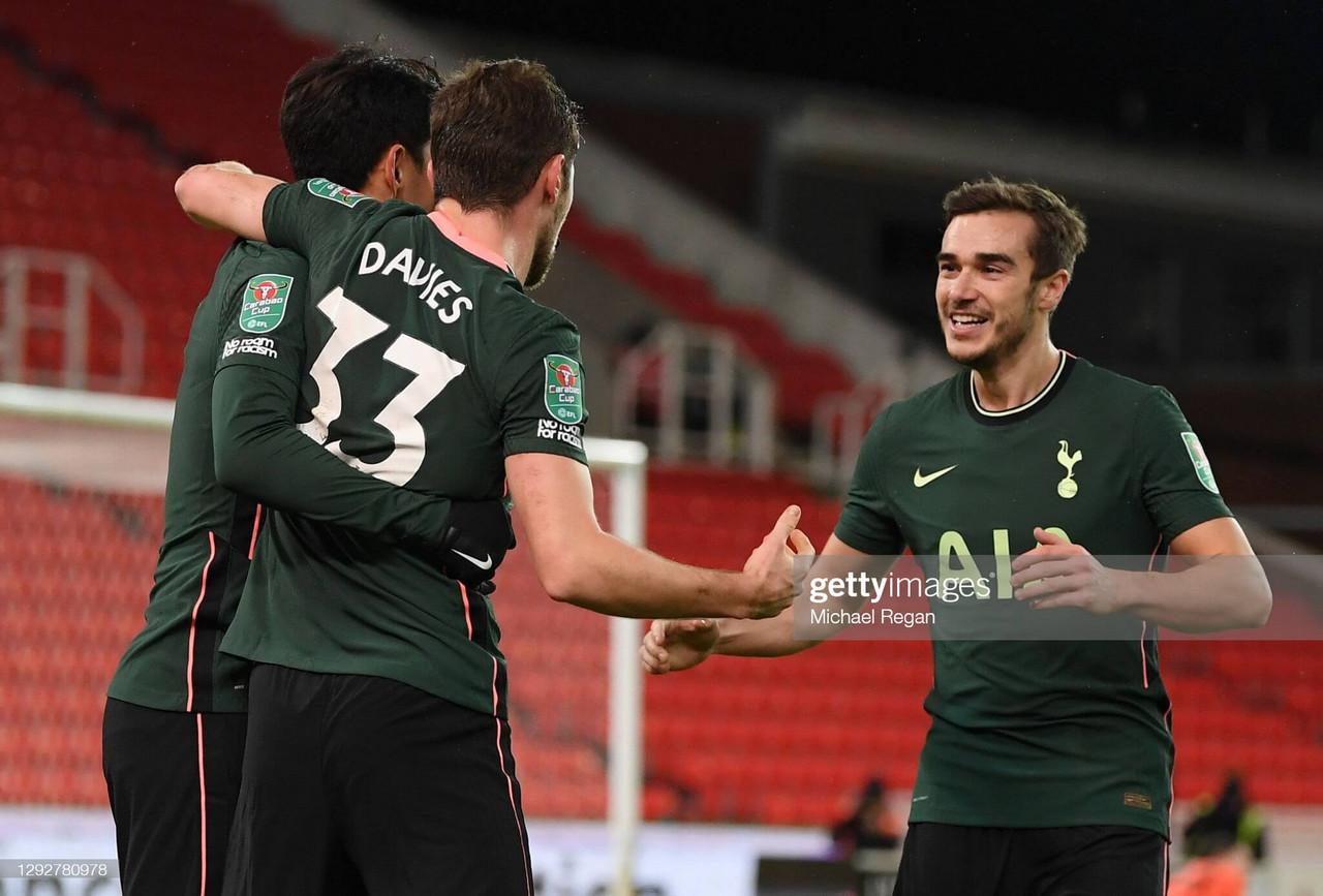 Stoke City 1-3 Tottenham Hotspur: Late strikes see Spurs progress into Carabao Cup semi-finals