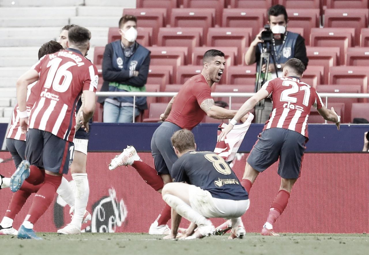 Suárez marca gol da virada, Atlético de Madrid bate Osasuna e segue líder de LaLiga