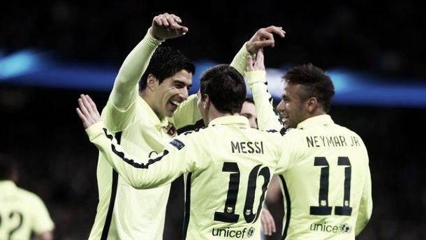 Manchester City 1-2 Barcelona: Suarez brace gives Barcelona win at Etihad
