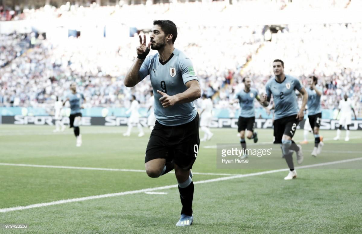 Uruguay 1-0 Saudi Arabia: Luis Suarez Locks Down Knockout Rounds for Uruguay On 100th Cap