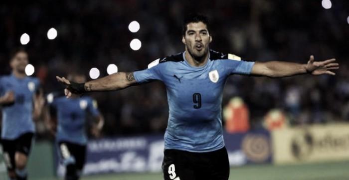 Luis Suárez marca con Uruguay y bate otro récord