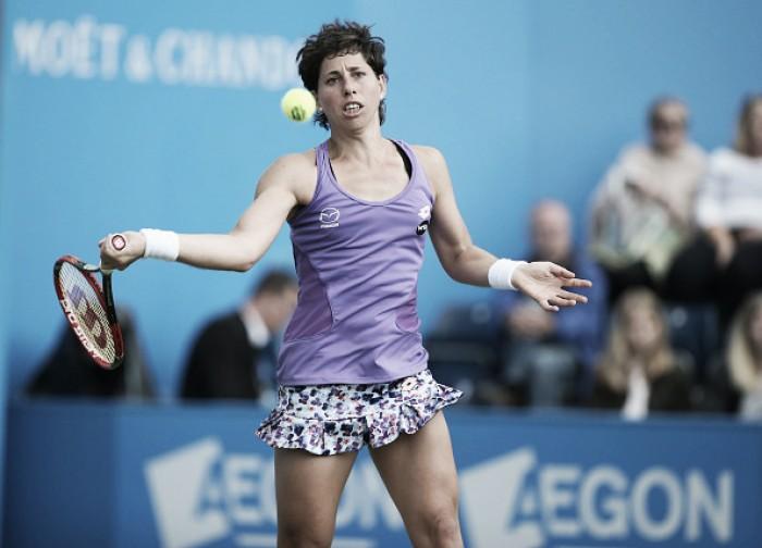 WTA de Birmingham: Suarez Navarro surpreende Kerber e avança; Madison Keys vence