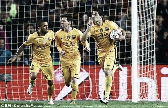 Barcelona 2-1 Atletico Madrid: Suarez brace rounds off dominant quarter-final performance