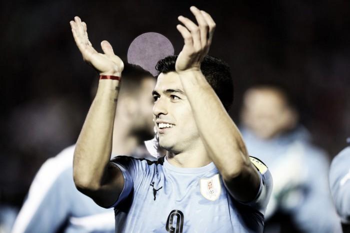"""Maior artilheiro das Eliminatórias, Suárez celebra vaga: """"Dia histórico para o Uruguai"""""""