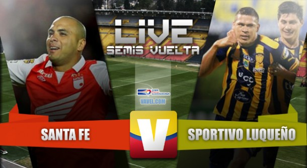 Santa Fe vs Sportivo Luqueño en vivo y online en semifinales Copa Sudamericana 2015 (0-0)