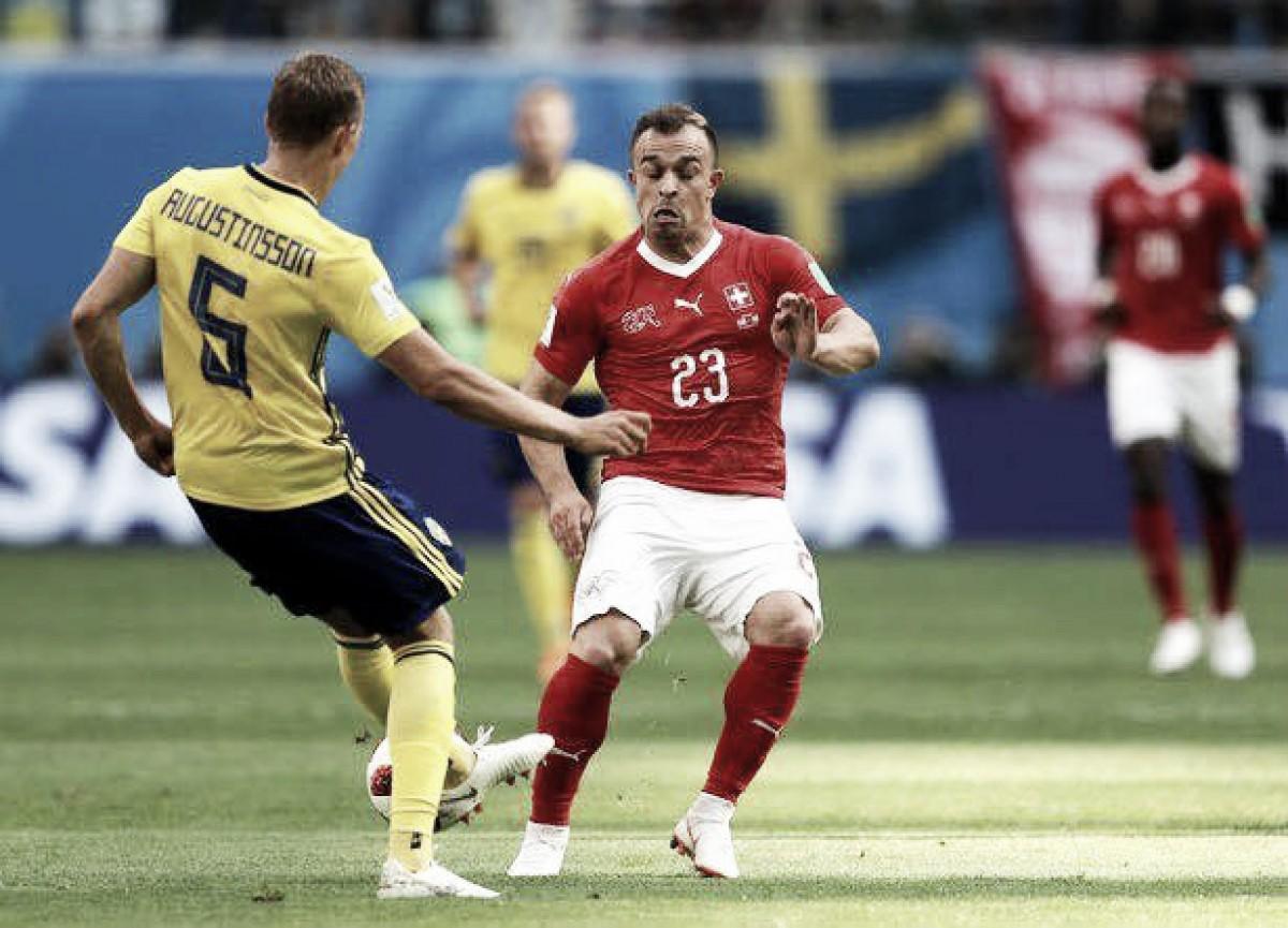 Suecia se instaló en cuartos con gol de Forsberg