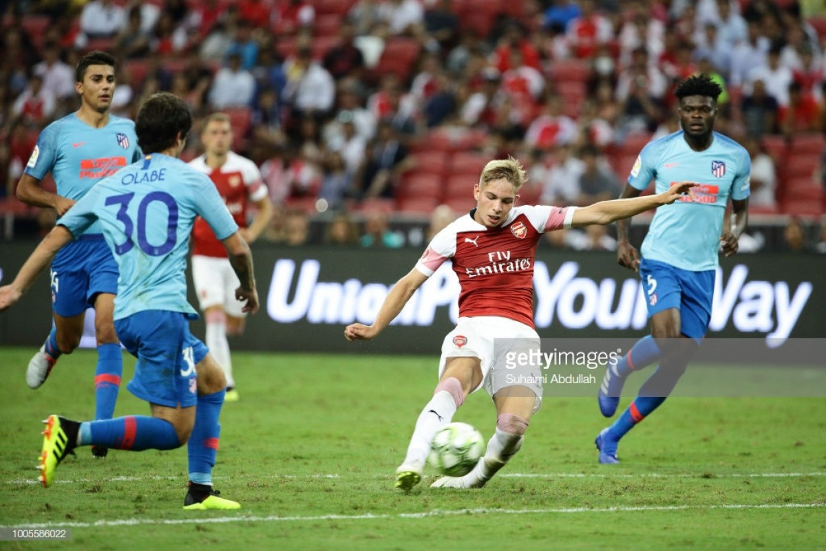 Emery praises Smith Rowe after strong performance against Atletico Madrid
