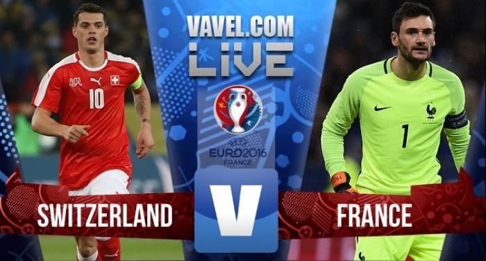 Risultato finale Francia - Svizzera, Euro 2016  (0-0):non si fanno male, qualificazione per entrambe