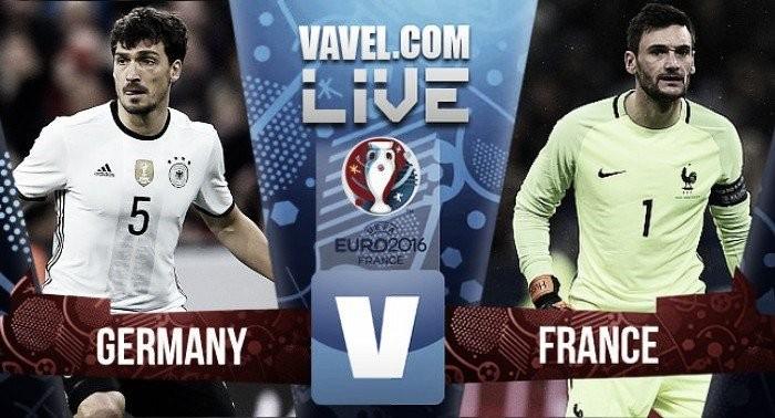 Resultado Alemanha x França no EURO 2016 (0-2)
