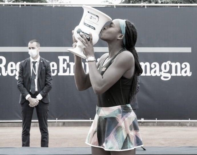 Coco Gauff, doble campeona en Parma