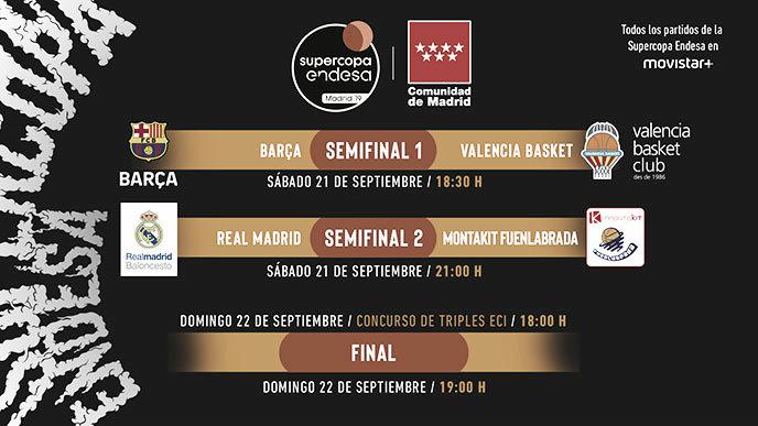 Madrid - Fuenlabrada y Barça - Valencia, los enfrentamientos de la Supercopa