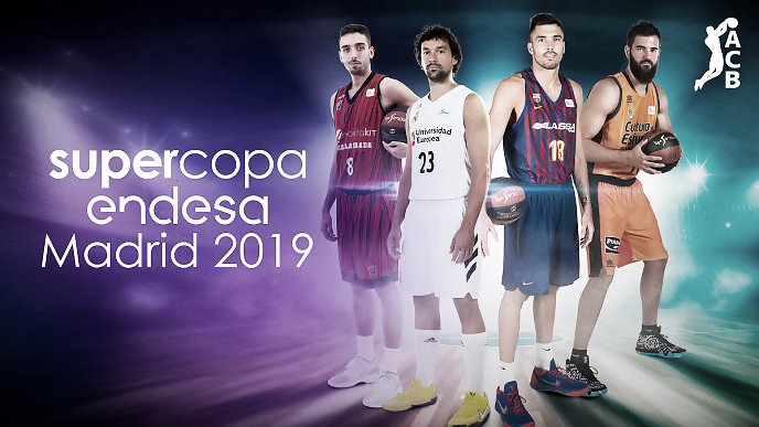 Real Madrid, Barça, Valencia y Fuenlabrada, equipos de la Supercopa Endesa