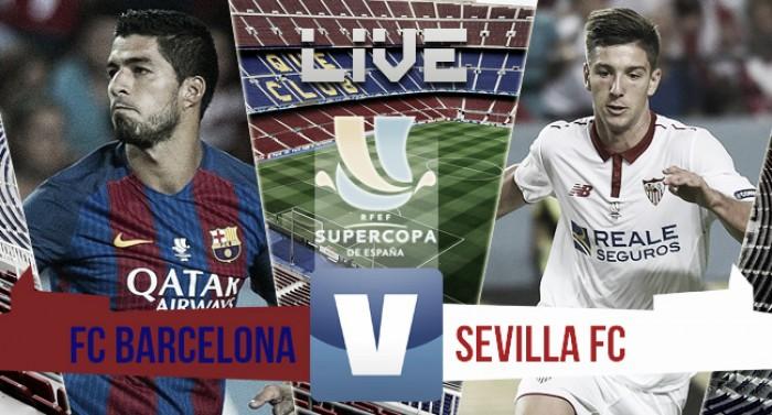 Barcelona vence Sevilla e é campeão da Supercopa da Espanha(3-0)