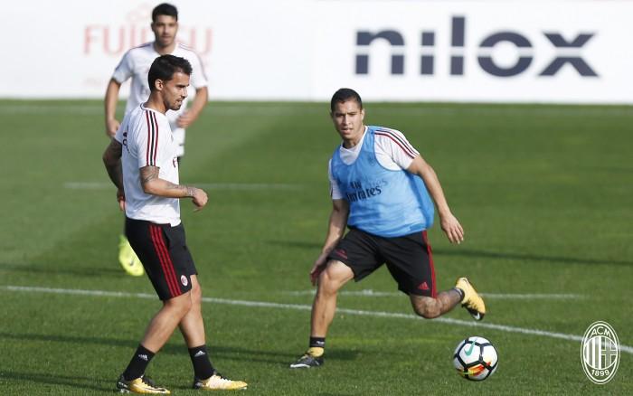 Verso il derby, Montella pensa a Suso e Bonaventura più una punta. Borini esterno a tutta fascia