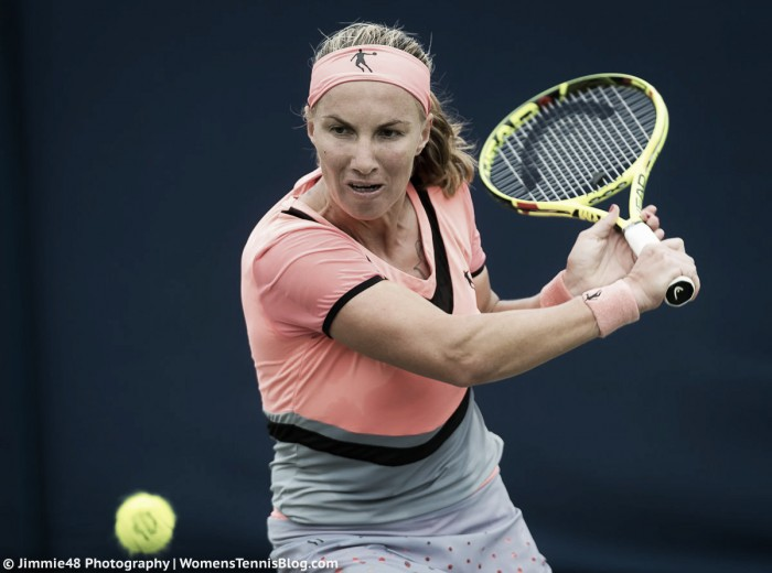 WTA Eastbourne: Svetlana Kuznetsova battles past Kristina Mladenovic to reach the quarterfinals