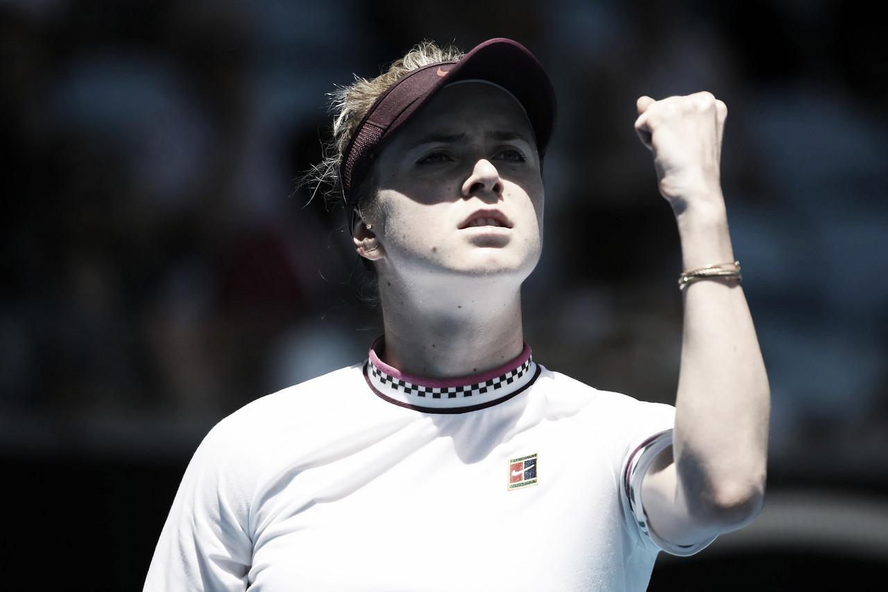 Em partida incomum, Svitolina vence Keys nas oitavas do Australian Open