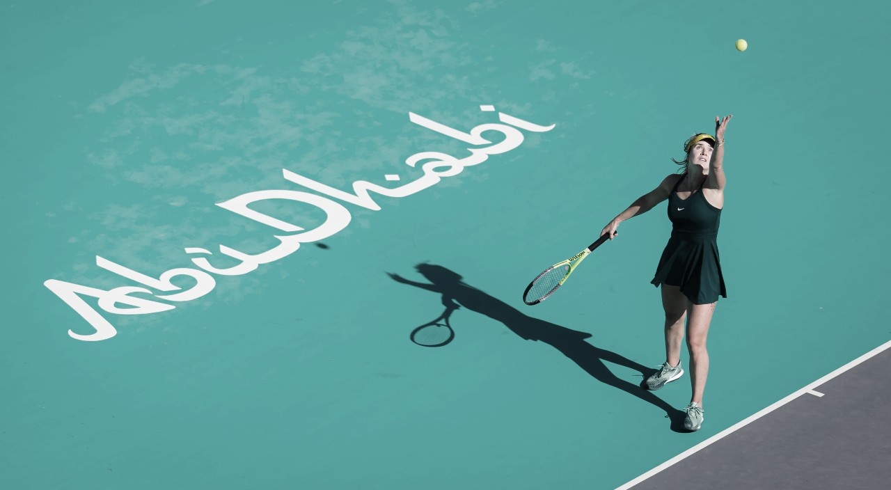 Svitolina domina Zvonareva e segue firme no WTA 500 de Abu Dhabi