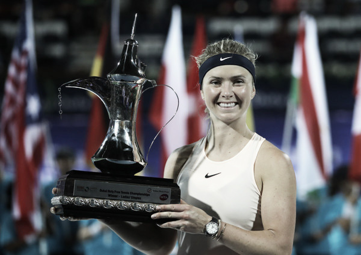Ukraine's tennis star Elina Svitolina wins Dubai Open