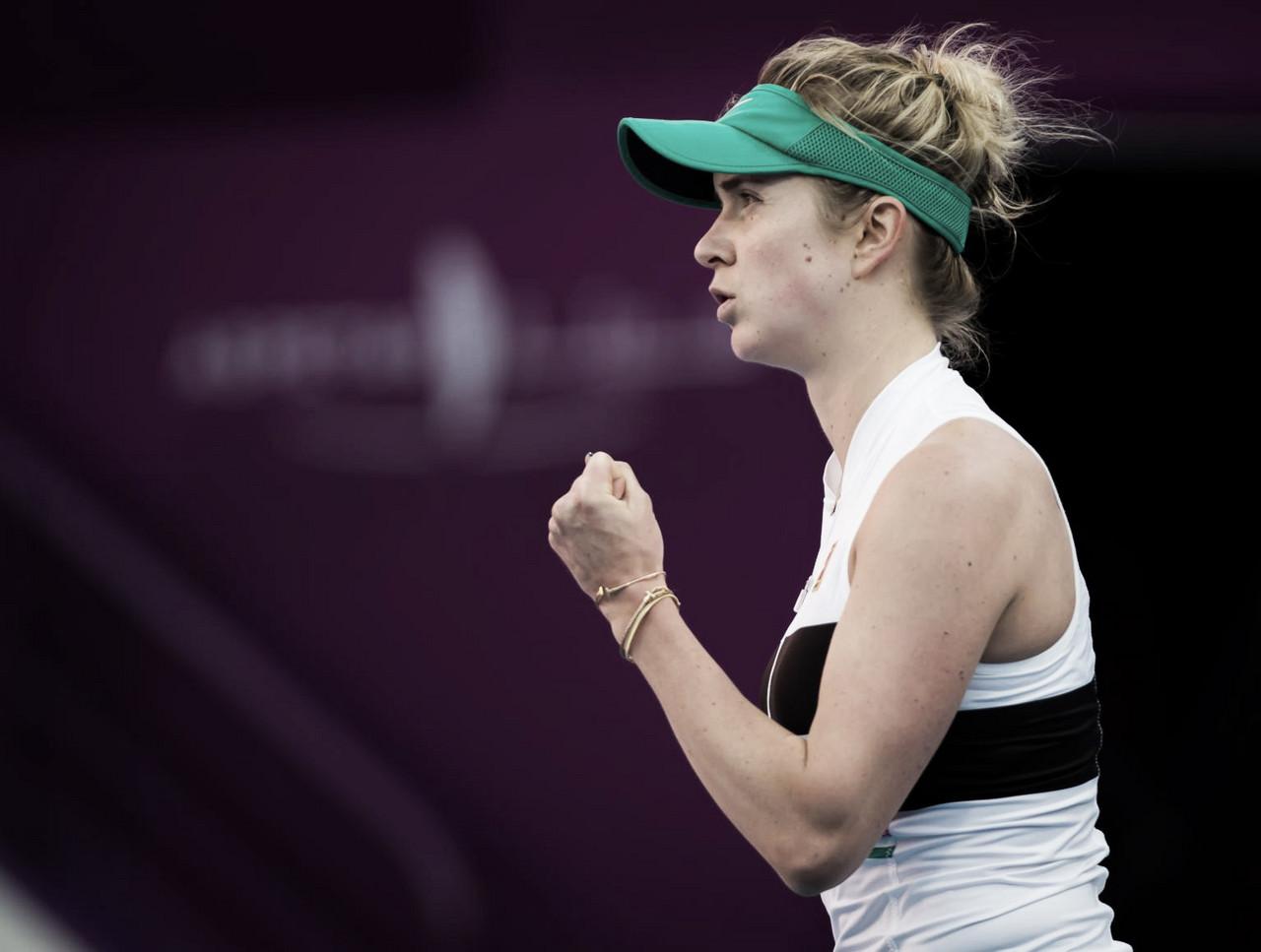 Svitolina vence Ostapenko pela primeira vez e vai às quartas em Doha