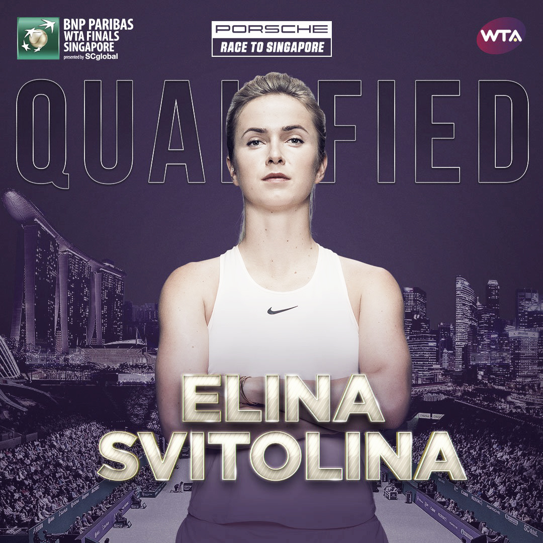 Elina Svitolina qualifies for WTA Finals