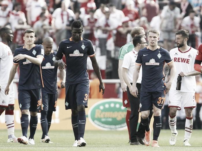 1. FC Köln 0-0 Werder Bremen: Stalemate leaves Bremen battling to escape playoff spot