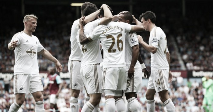 West Ham United 1-4 Swansea City: Super Swans sink Hammers with defiant display